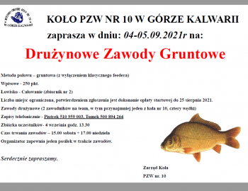 Towarzyskie zawody gruntowe Całowanie 04 - 05.09.2021r.